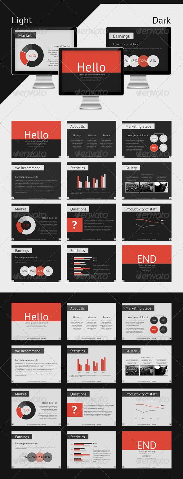 GraphicRiver Keynote Corporate Presentation Template 3495169
