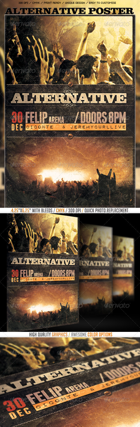 GraphicRiver Alternative Poster Flyer Template 3495292