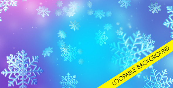 Christmas Snow Loopable Background