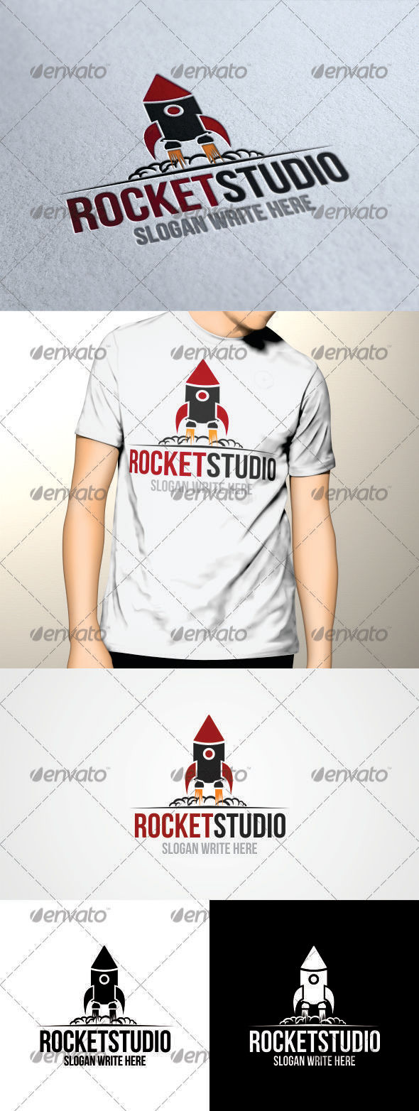 GraphicRiver Rocket Studio Logo Template 3486505