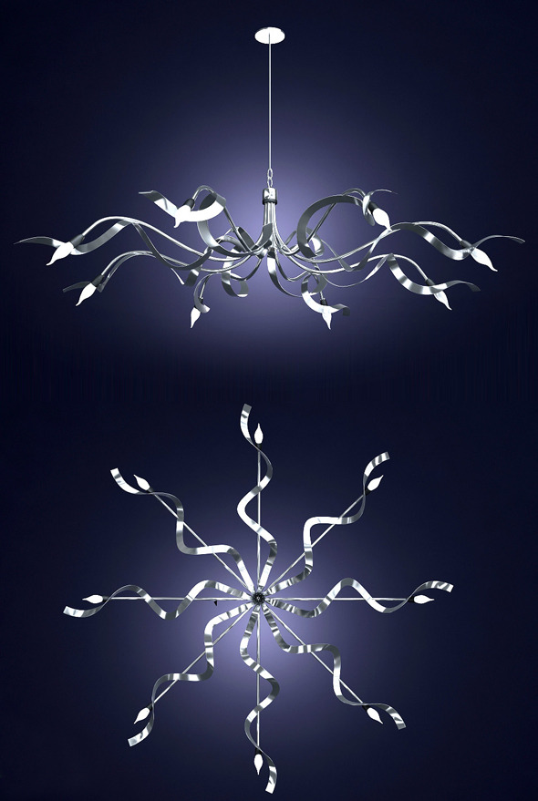 Chandelier Ruban Plie. designer Jacco Maris - 3DOcean Item for Sale