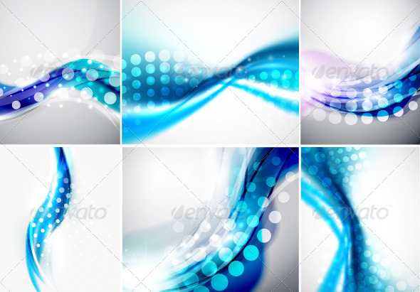GraphicRiver Smooth Blue Backgrounds 3495809