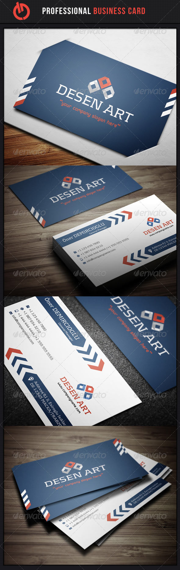 GraphicRiver Professional Business Card 7 3495899