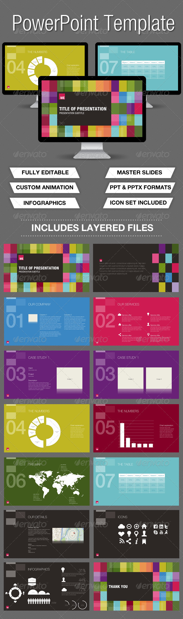 GraphicRiver Colour Powerpoint Presentation 3496108