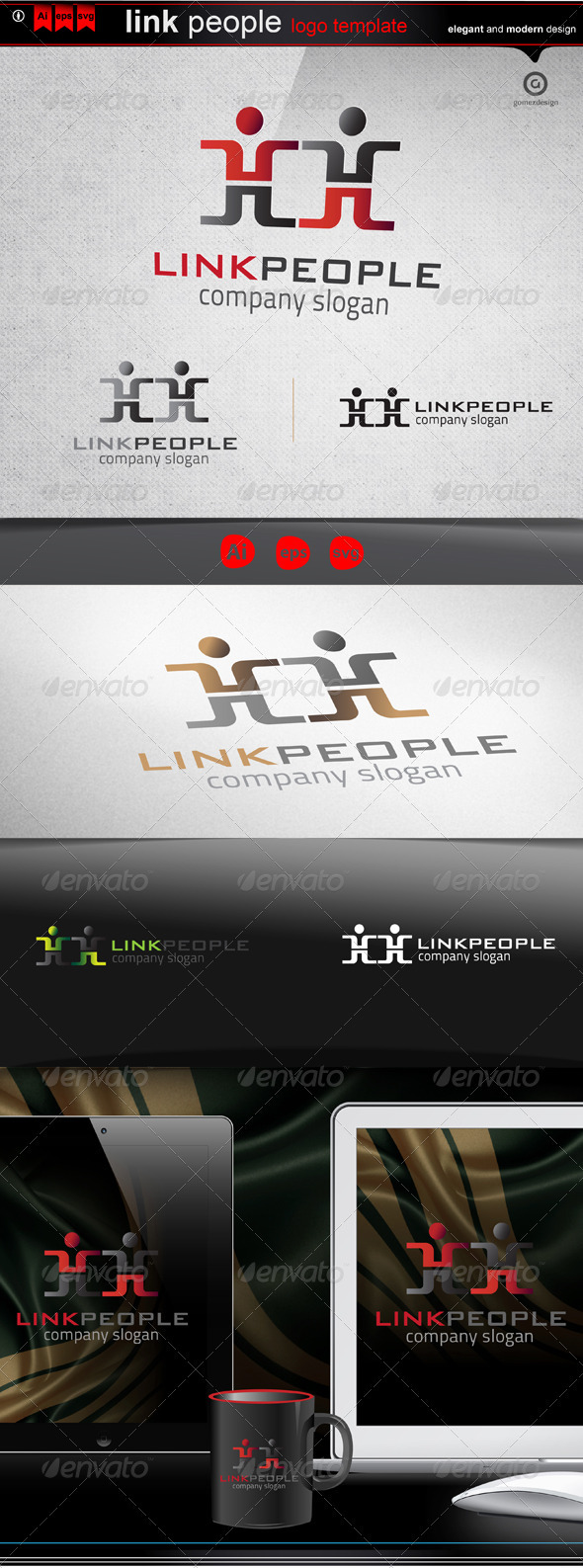 GraphicRiver Link people 3496436