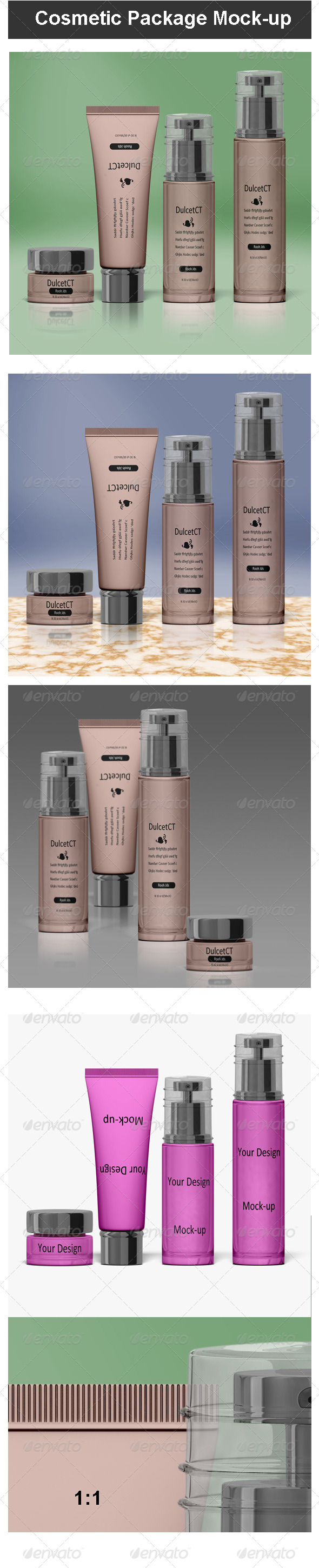 GraphicRiver Cosmetic Package Mock-up 3496466