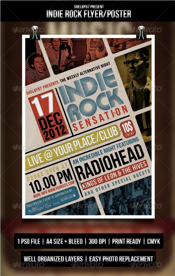 GraphicRiver Indie Rock Flyer Poster 3496547