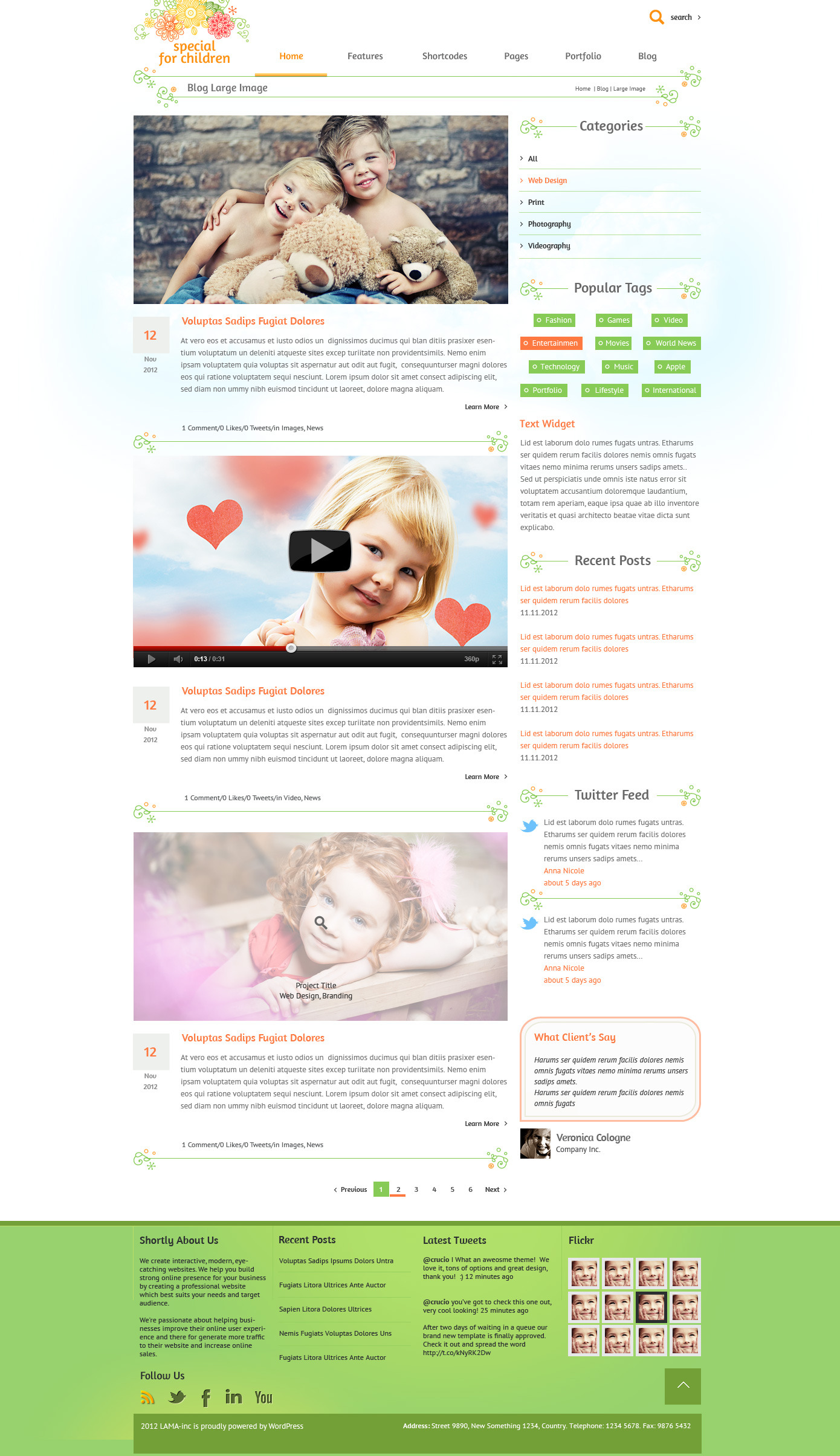 Special for Children and Baby - PSD Template