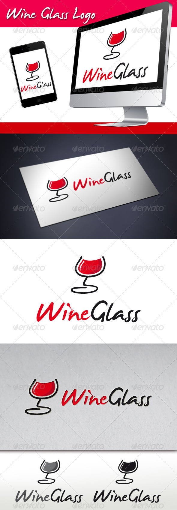 GraphicRiver Wine Glass Logo 3494135