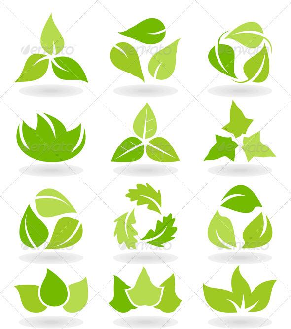 GraphicRiver Leaf Icon Set 3497107