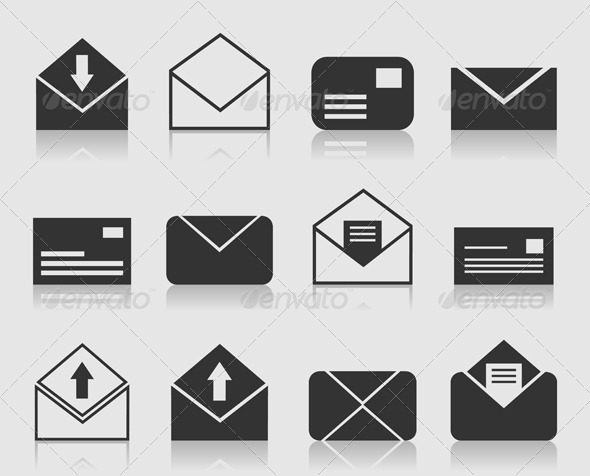 GraphicRiver Mail and Letter Icons Set 3497127