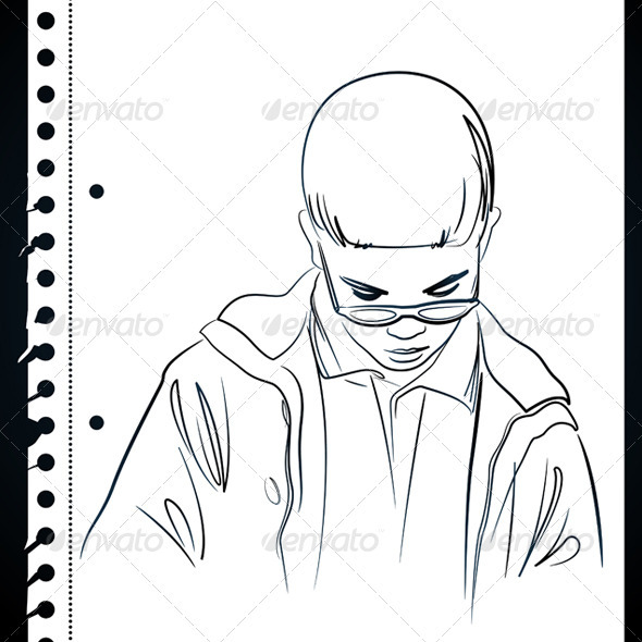 GraphicRiver Little Kid Drawing 3497189