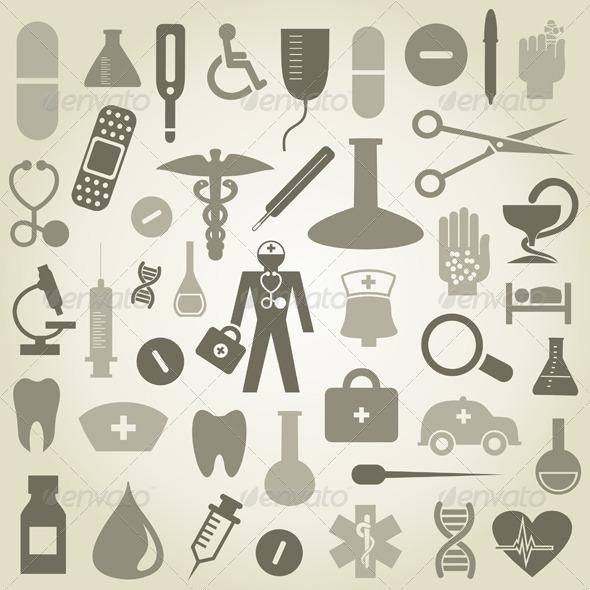 GraphicRiver Medicine Icons Set 3497202