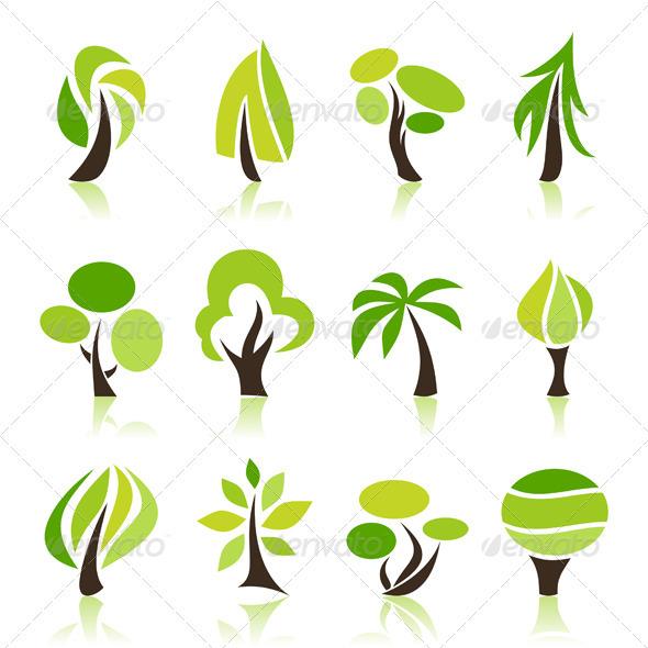 GraphicRiver Tree Icons Set 3497265