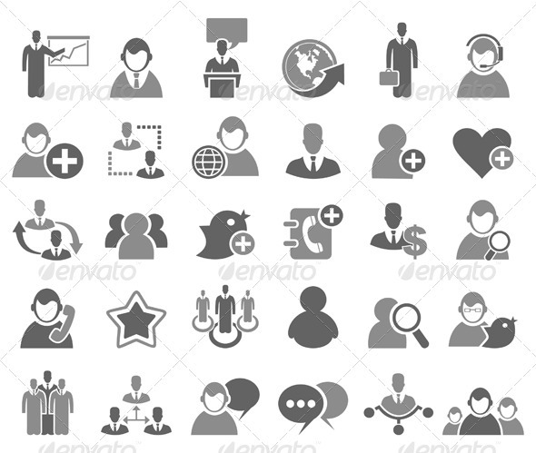 GraphicRiver Business Icons Set 3497285