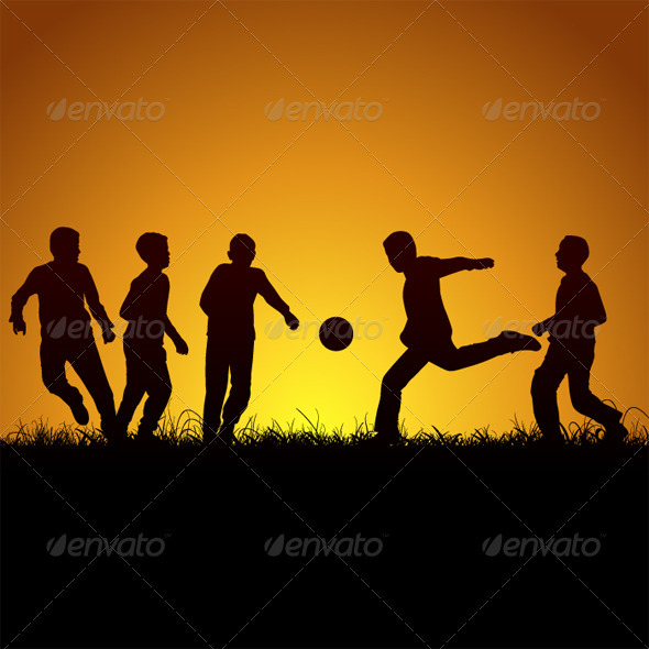 GraphicRiver Five Boys And Football 3497732