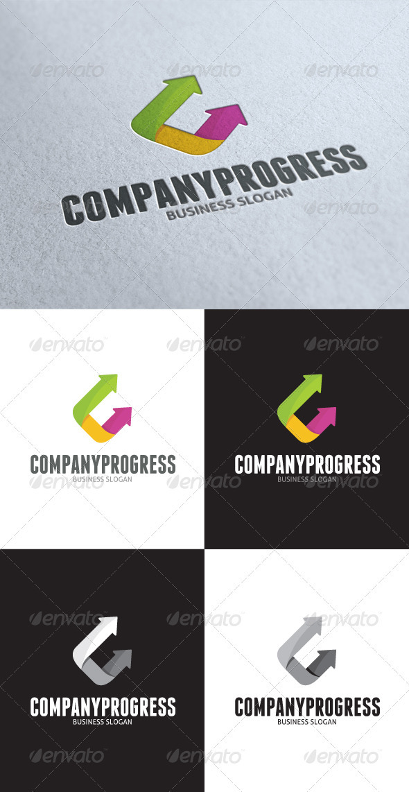 GraphicRiver Company Progress Logo 3497772