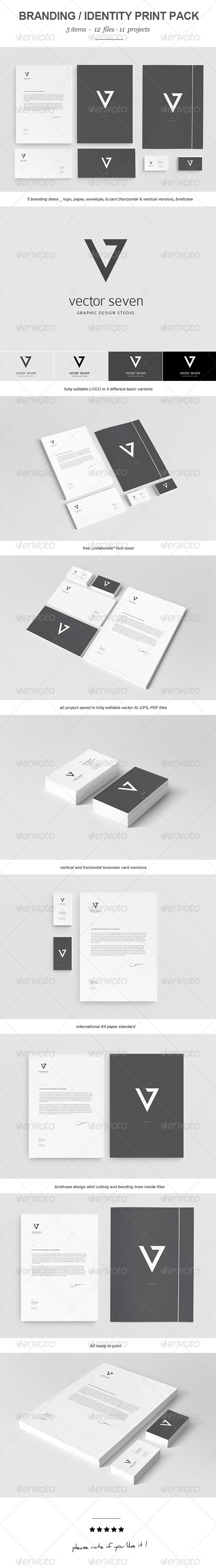 Seven Vector Branding Print Pack - Stationery Print Templates