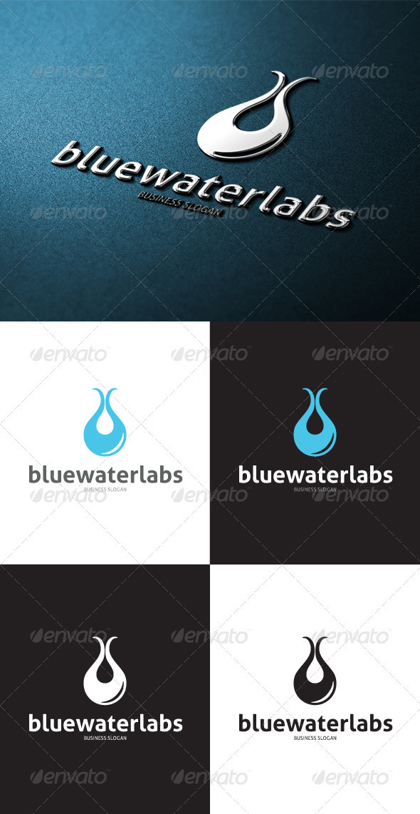 GraphicRiver Water Lab Logo 3497832