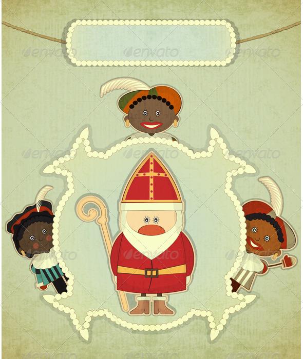 GraphicRiver Christmas Card with Dutch Santa Claus Sinterklaas 3497974