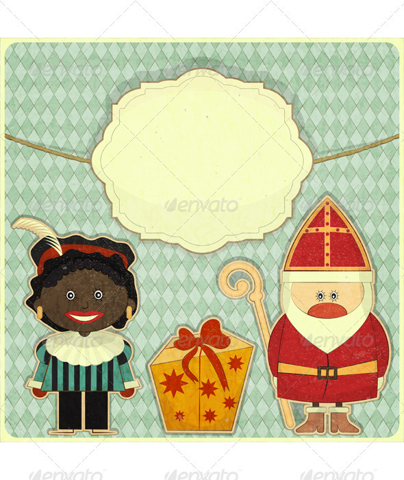 GraphicRiver Christmas Card with Sinterklaas 3498002
