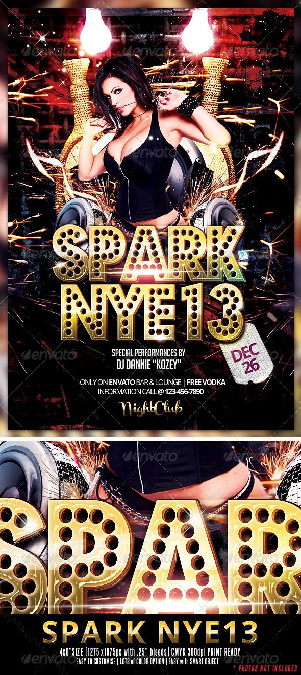 GraphicRiver Spark NYE13 Flyer 3498041