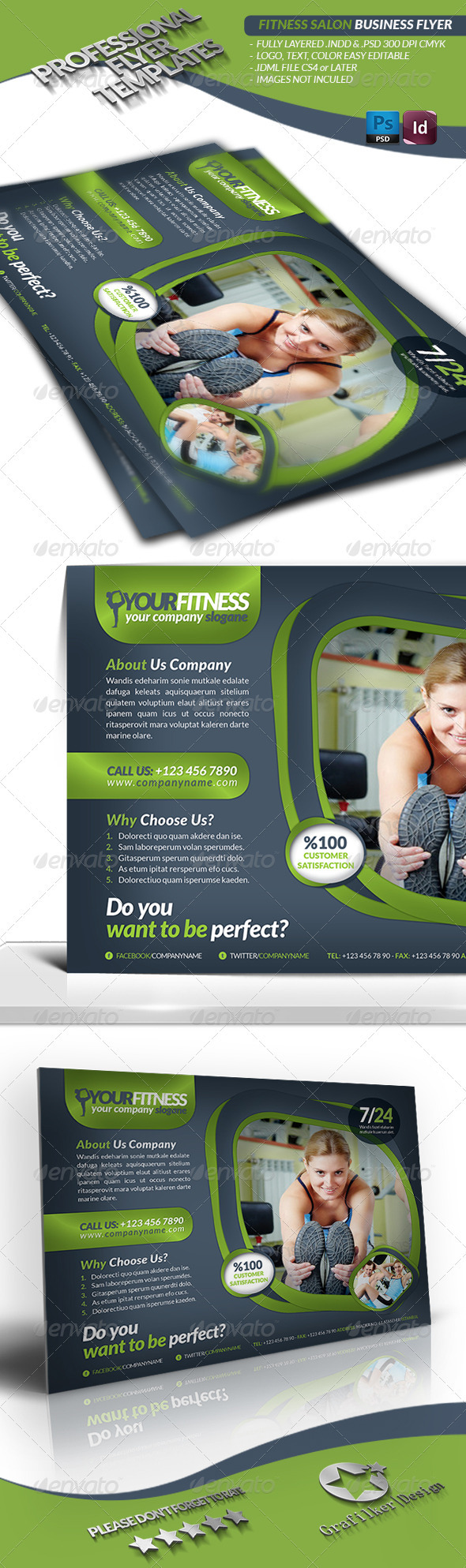 GraphicRiver Fitness Salon Business Flyer 3473384