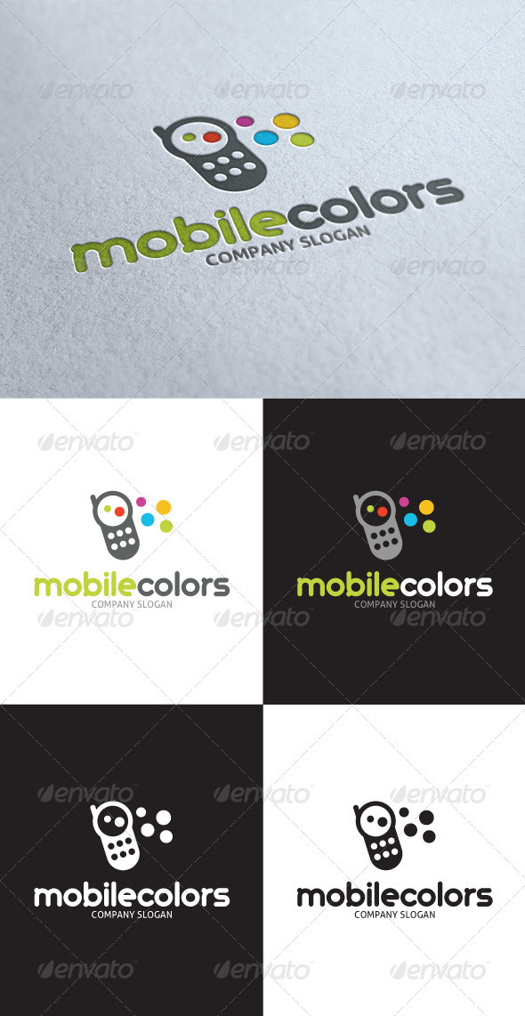 GraphicRiver Mobile Colors Logo 3498387