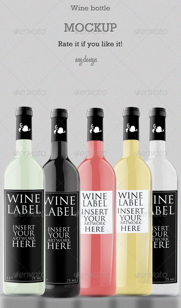 GraphicRiver Wine Bottle MockUP 3007113