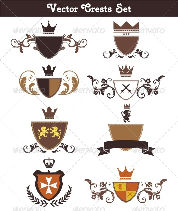 GraphicRiver Vector Crests Set 3498428