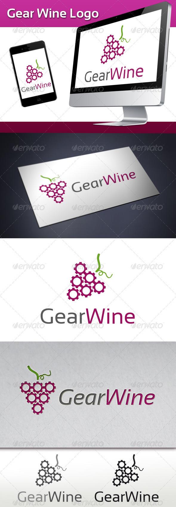 GraphicRiver Gear Wine Logo 3494851