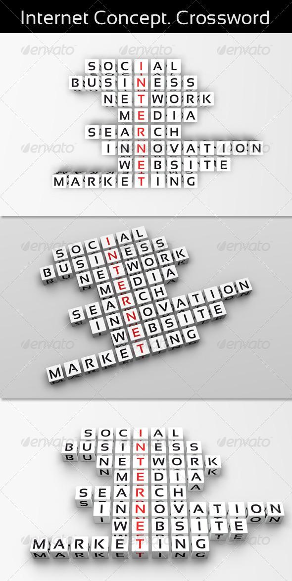 GraphicRiver Internet Concept Crossword 3498594