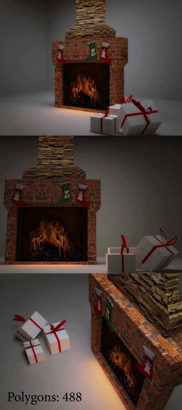 3DOcean Fireplace 3498597