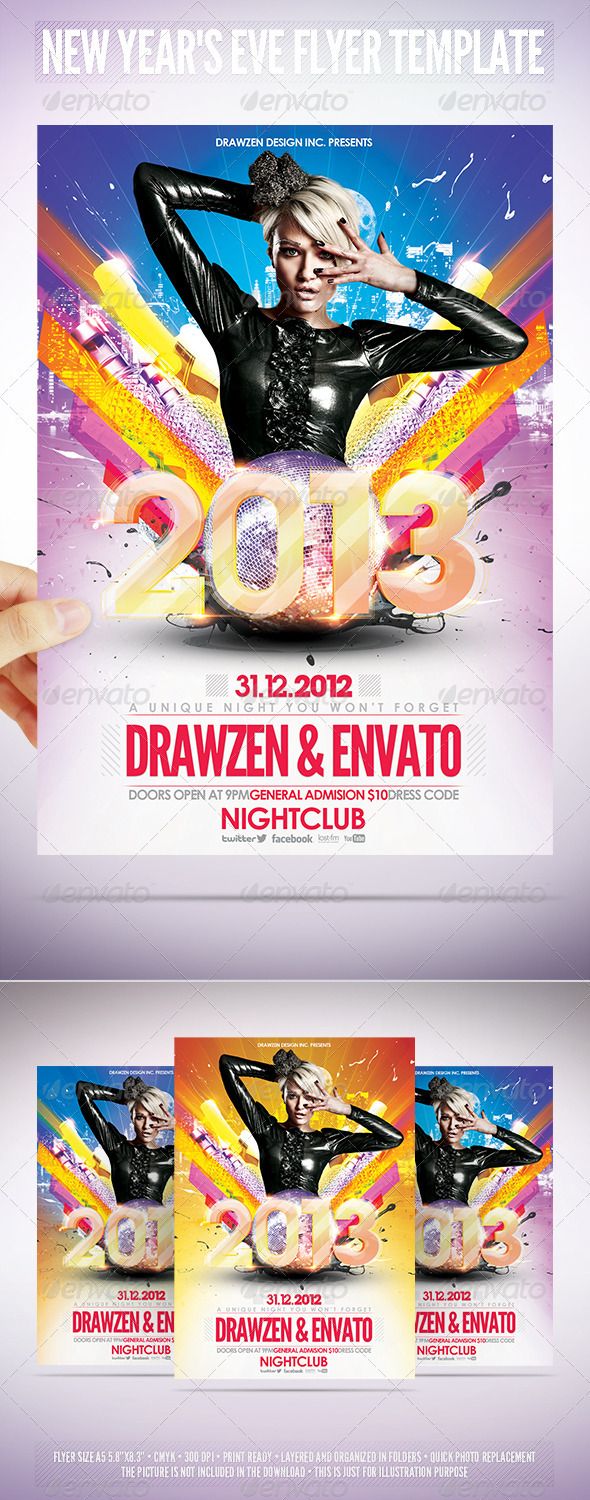 GraphicRiver New Year s Eve Flyer Template 3499027