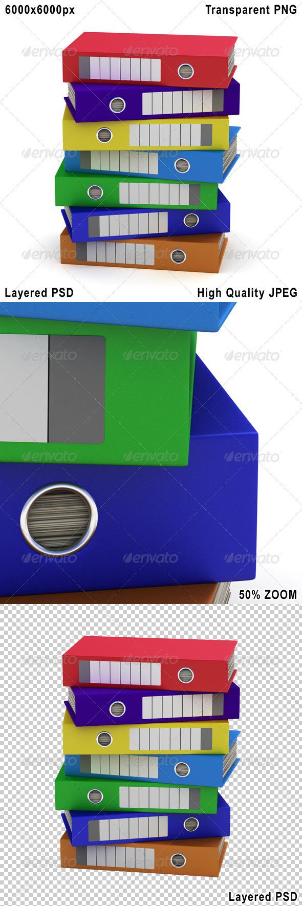 Colorful File Folders - Objects 3D Renders