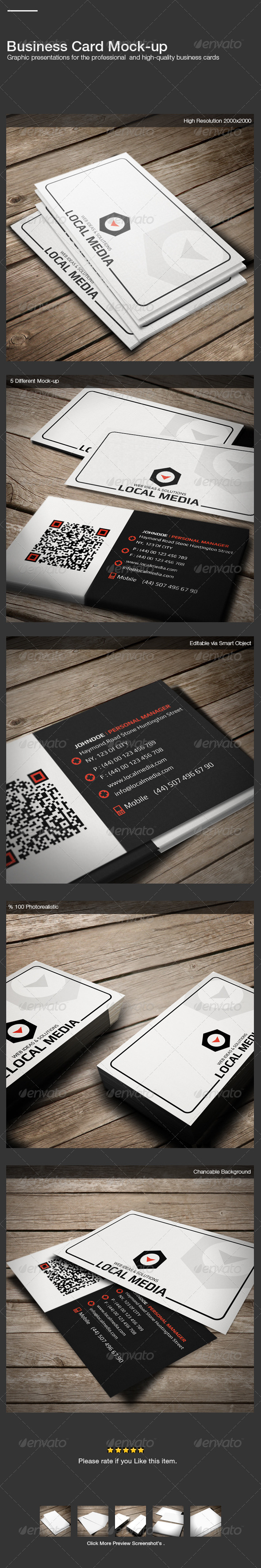 GraphicRiver Business Card Mock-Up 3500813