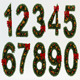 Stylized Christmas Numbers 02
