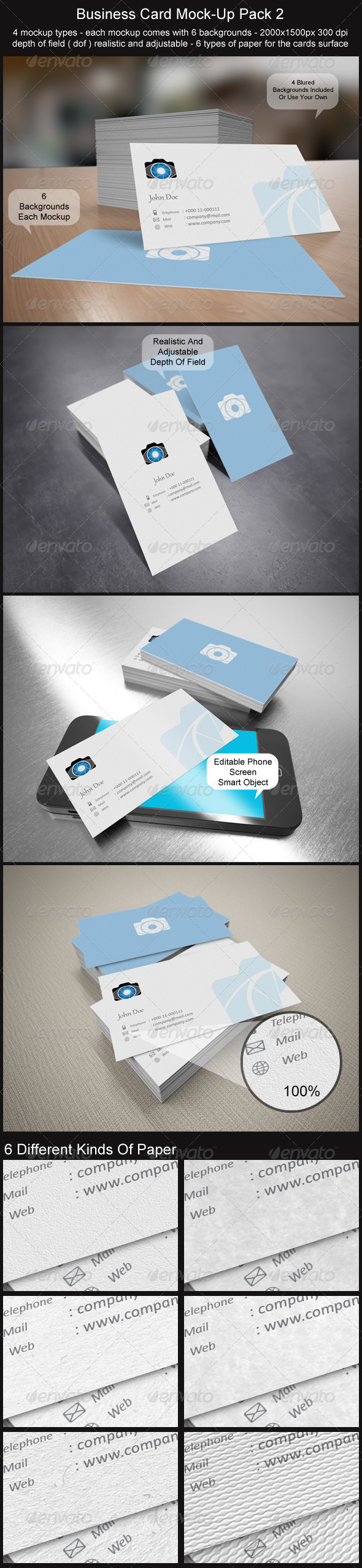 GraphicRiver Business Card Mock-Up Pack 2 3500961