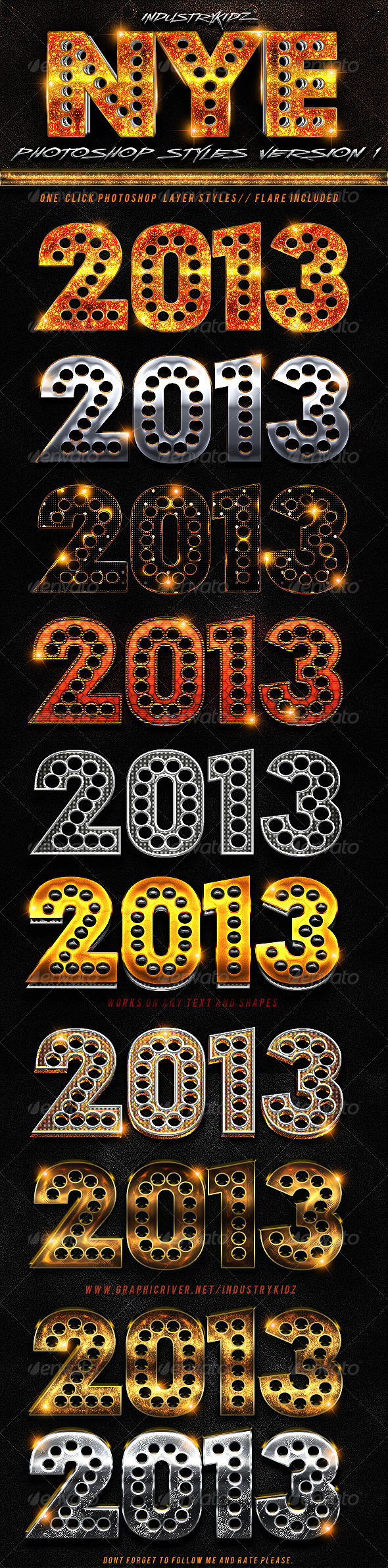 GraphicRiver New Year Photoshop Styles 3500964