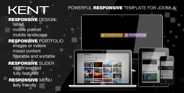 Kent Powerful Responsive Template For Joomla!