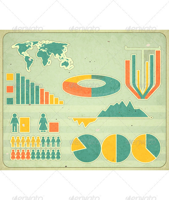 GraphicRiver Vintage Infographic Elements 3501113
