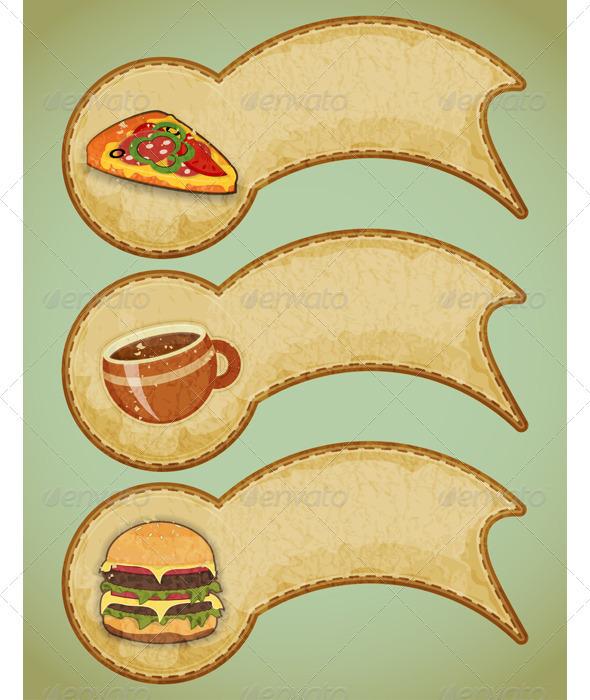 GraphicRiver Retro Fast Food Labels 3501333