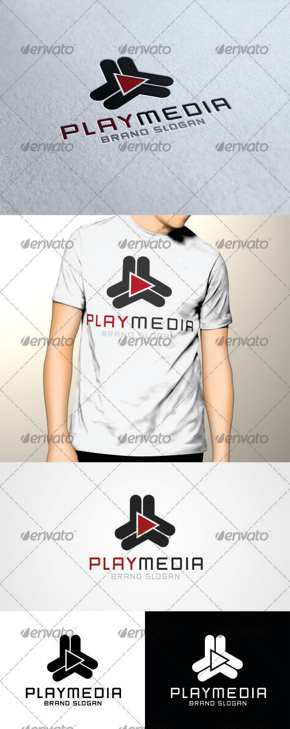 GraphicRiver Play Media Logo V2 3389842