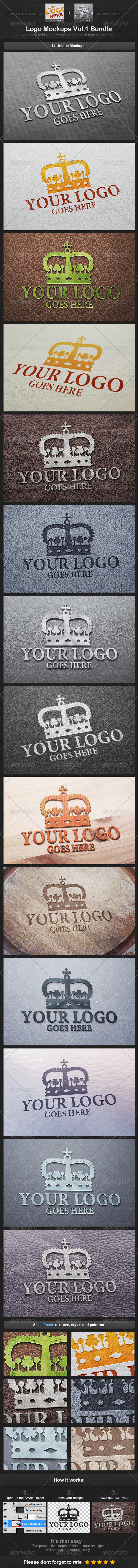 Logo Mockups Vol.1 Bundle - Logo Product Mock-Ups