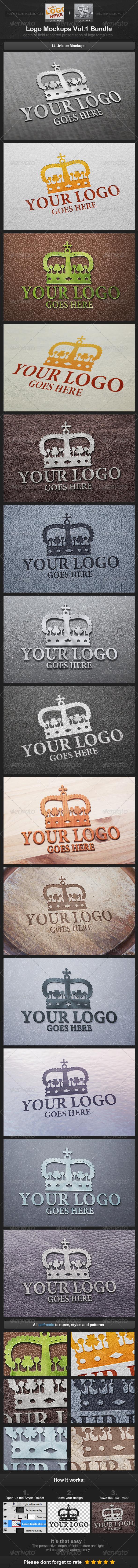 GraphicRiver Logo Mockups Vol.1 Bundle 3501397