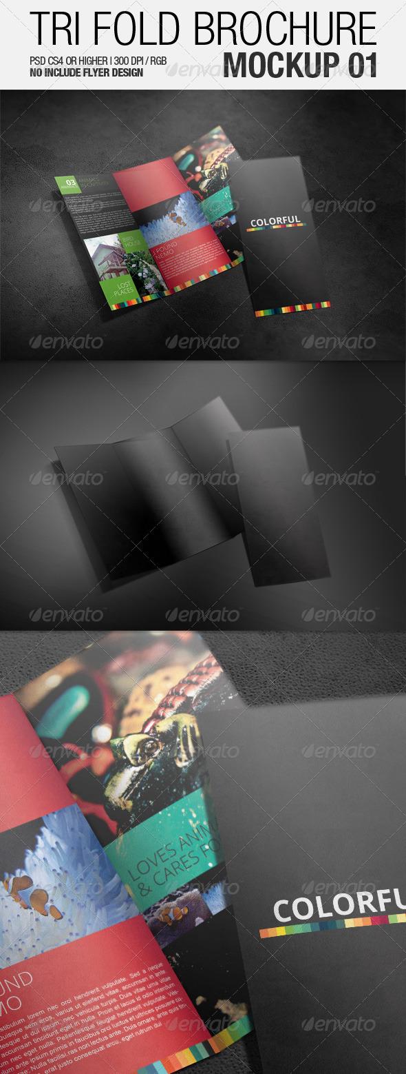 GraphicRiver Tri Fold Brochure Mockup 01 3501558