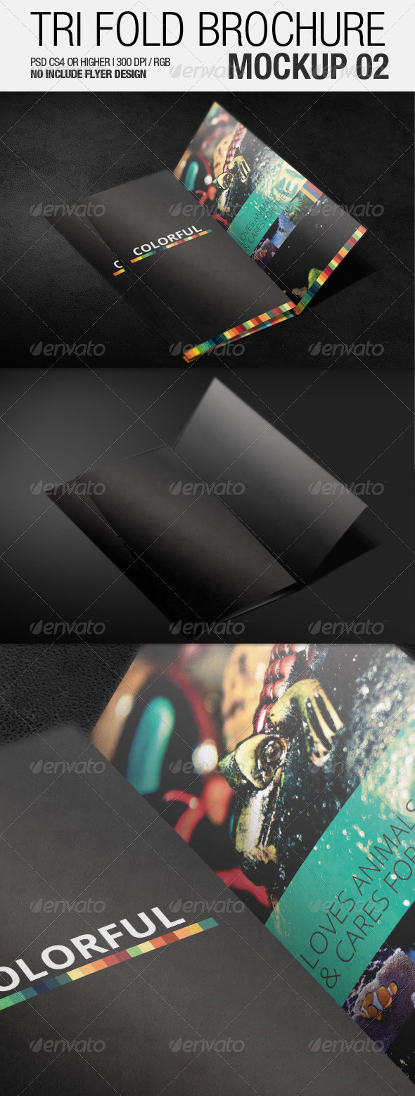 Tri Fold Brochure Mockup 02 - Brochures Print