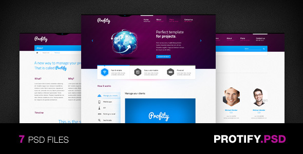 Protify - PSD Template
