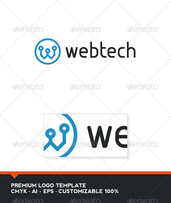 GraphicRiver Web Tech Letter W Logo Template 3502035