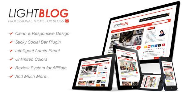 ThemeForest LightBlog A Reponsive Blogging Wordpress Theme 3449786